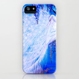 White Peacock at Twilight iPhone Case