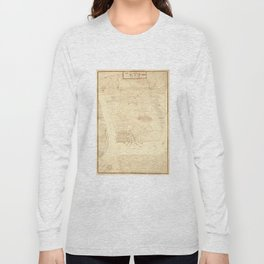 Vintage Map of Charleston SC (1780) Long Sleeve T-shirt