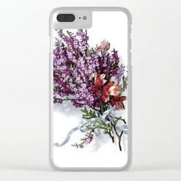 Vintage Lavender Bouquet Clear iPhone Case