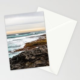 Volcanic Seascape in Fuerteventura at sunset Stationery Cards