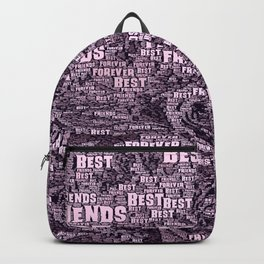 WordArt Best Friends forever Backpack