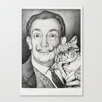 dali Canvas Prints featuring Dali by Alice Macarova