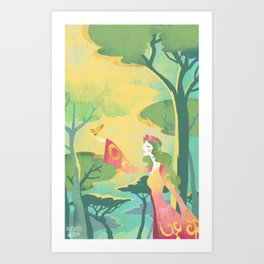 Nature Spirit (Chlorofille) Art Print