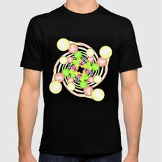 Molecular Growth in Abstract Mens Fitted Tee MEDIUM Black