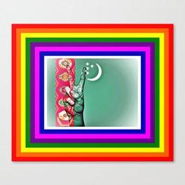 Turkmenistan World peace Flag Canvas Print