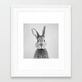 Rabbit - Black & White Framed Art Print