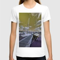 marina T-shirts featuring Cowes Marina  by Rob Hawkins Photography