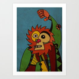 Monkey in Sunday Best Art Print