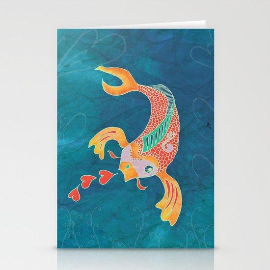 Breathing Love - Goldfish, Koi, Hearts Stationery Cards