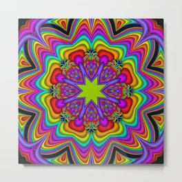 Popping Patterns Kaleidoscope Metal Print