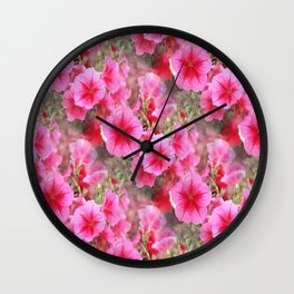 Love of Petunias.... Wall Clock