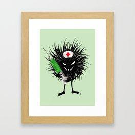 Evil Bug Nurse With Syringe Framed Art Print