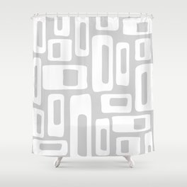 Retro Mid Century Modern Abstract Pattern 732 Gray Shower Curtain