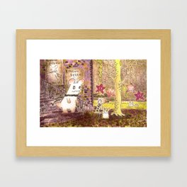 "incident ""Doudou Perdu"" Framed Art Print"