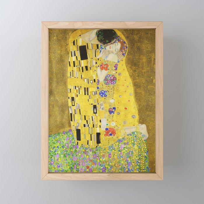The Kiss - Gustav Klimt, 1907 Framed Mini Art Print