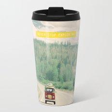 NEVER STOP EXPLORING - vintage volkswagen van Travel Mug