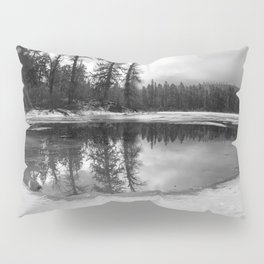 Sun Rays on a Melting Lake Pillow Sham