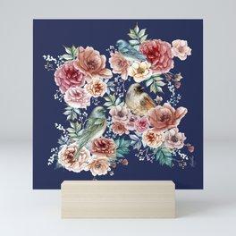 Flowers and Birs Mini Art Print
