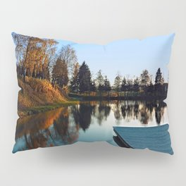 Romantic evening at the lake VI | waterscape photography Pillow Sham
