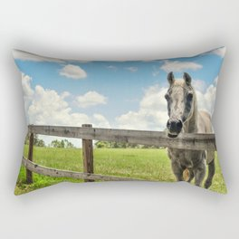 Horse Sanctuary for Abused and Neglected Horses Rectangular Pillow