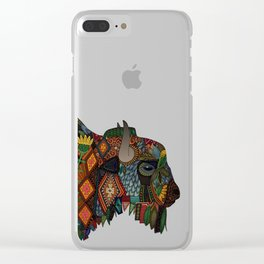 bison heather Clear iPhone Case