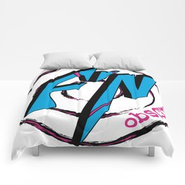 Fn Obscure Logo Comforters