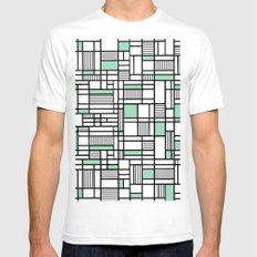 Map Lines Mint SMALL Mens Fitted Tee White