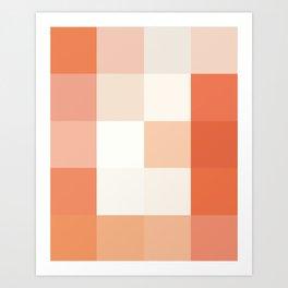Colorscape: Grapefruit Art Print