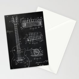 Gibson Guitar Patent Les Paul Vintage Guitar Diagram Stationery Cards