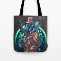 ganesh Tote Bags featuring Ganesh by Renato Guerra