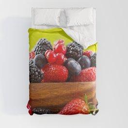 berries strawberries blackberries blueberries currants cup fresh berries strawberry Comforters