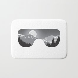 Moonrise Goggles - B+W - White Frame   Goggle Designs   DopeyArt Bath Mat