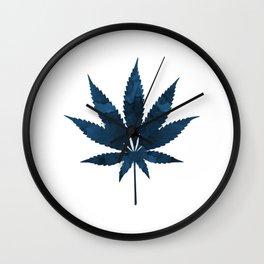 Cannabis leaf Wall Clock