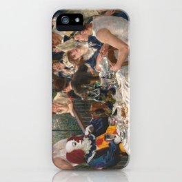 IT's Pennywise in Luncheon of the Boating Party iPhone Case