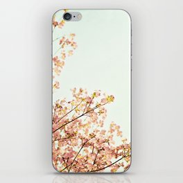 Peach Spring Dogwood Tree Photography, Coral Salmon Mint Aqua Teal Turquoise, Spring Floral Branches iPhone Skin