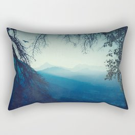 Blue Mountain Morning Rectangular Pillow