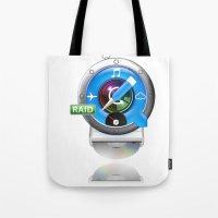mac Tote Bags featuring Super-Mac by AJ Calhoun