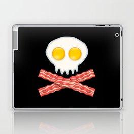 Skull With Crossed Bacon  Skull Bacon Eggs Laptop & iPad Skin