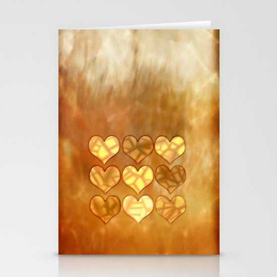 Hearts in sepia Stationery Cards
