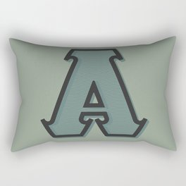 BOLD 'A' DROPCAP Rectangular Pillow