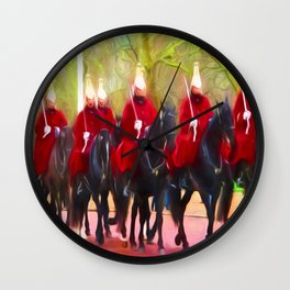The Queens life guards on the Mall Wall Clock