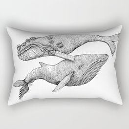 A Couple Of Whales  by Michelle Scott of dotsofpaint studios Rectangular Pillow