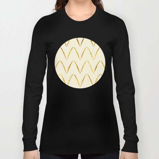 Cream Gold Foil 05 Long Sleeve T-shirt