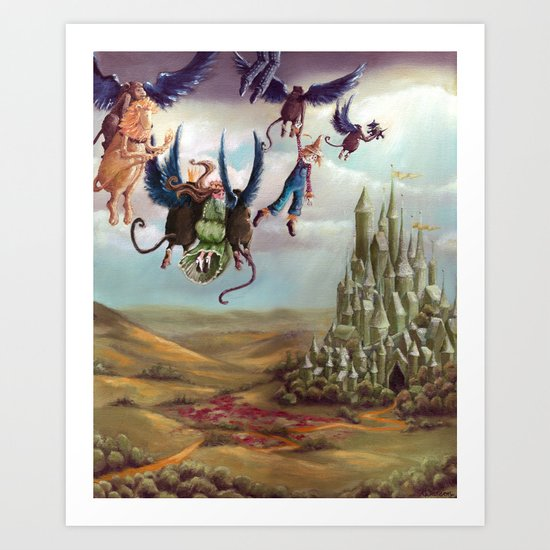 We wish to go to the Emerald city - From The Wizard of Oz - By L. Frank Baum Art Print