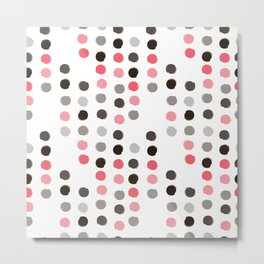 color polka dots Metal Print