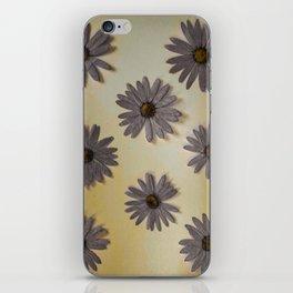 Gray and Yellow Flower Art iPhone Skin