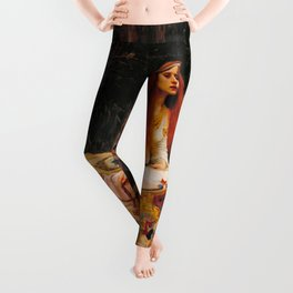 "John William Waterhouse ""The Lady of Shalott"" Leggings"