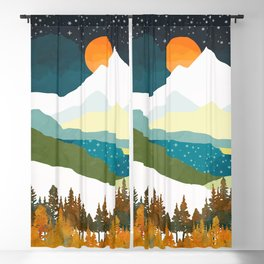 Winters Night Blackout Curtain