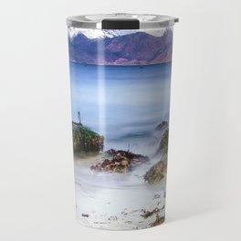 Beach Scene - Mountains, Water, Waves, Rocks - Isle of Skye, UK Travel Mug