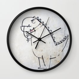 The dinosaur ate his owner Wall Clock